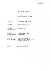 Инструкције за плаћање EUR